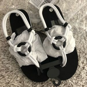 white tube sandals from urban outfitters